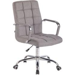 CLP Bürostuhl DELI mit Stoffbezug und hochwertiger Polsterung I Drehstuhl mit höhenverstellbarer Sitzhöhe... grau