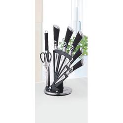 ZELLERFELD Messer-Set Trendmax 8-teiliges Profi Messer-Set Messerblock sehr hochwertiges SelbstschärfenMesser Küchenmesser Set Kochmesser schwarz