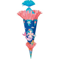 folia Bastelset Schultüte Meerjungfrau