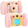Kinder-Full-HD-Digitalkamera, 2. Objektiv für Selfies & 2 Sucher, rosa