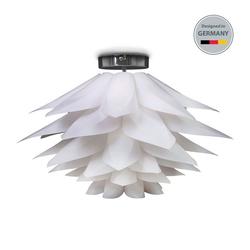 B.K.Licht Deckenleuchte BKL1099, Deckenleuchte E27 Ø51x33cm Deko-Lampe DIY Puzzlelampe Blütenlampe Lotuslampe Weiß Deckenlampe Kinderzimmer-Leuchte max. 60W IP20 Ohne Leuchtmittel