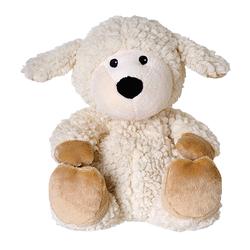 WÄRME STOFFTIER Schaf Wolle beige herausn.Kissen 1 St