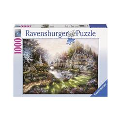 Ravensburger Puzzle Puzzle 1000 Teile, 70x50 cm, Im Morgenglanz, Puzzleteile
