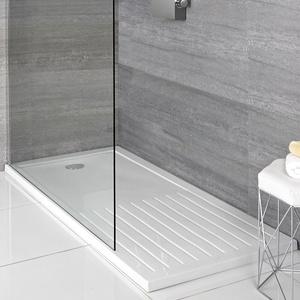 Duschwanne 140x90cm weiß aus leichtem Steinharz - Maxon, von Hudson Reed