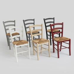 Binsengeflecht-Stuhl Schwarz