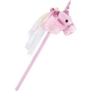 Stecken Pferd pink Mädchen Plüsch Sound Effekt  Einhorn Kinder Zimmer Spielzeug rosa BHP B800002