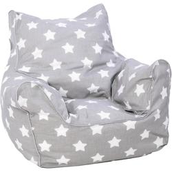 Knorrtoys® Sitzsack Grey White Stars, für Kinder; Made in Europe