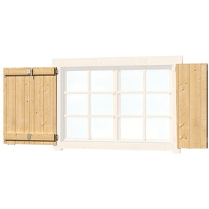 Outdoor Life Products Fensterladen, BxH: 129x88 cm, für Gartenhaus Colorado