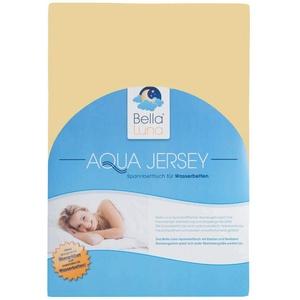 Aqua Jersey Stretch Wasserbett Spannbettlaken Elastan Baumwolle Wasserbetten Spannbetttuch Übergröße 18 Farben 180x200 bis 220x200 (beige/creme)