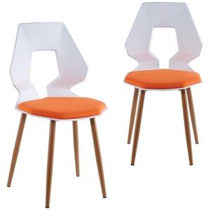 TRISENS Esszimmerstuhl Dorian (2er oder 4er Set, 2 Stück), 2er 4er Set Design Stühle Esszimmerstühle Küchenstühle Wohnzimmerstuhl Bürostuhl Kunststoff