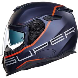 Nexx SX.100 Superspeed Helm, blau-orange, Größe XL