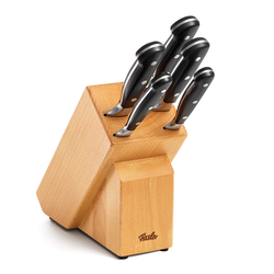 FISSLER Messerblock ALASKA aus Massivholz Messerset 6 teilig