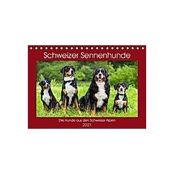 Schweizer Sennenhunde - die Hunde aus den Schweizer Alpen (Tischkalender 2021 DIN A5 quer) - Kalender