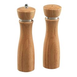 Kesper Pfeffermühle und Salzstreuer Set, 3-teilig, 1 x Salzstreuer + 1 x Pfeffermühle + 1 x Bambustablett, 1 Set