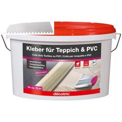 Bodenmeister Dispersionskleber 5kg Kleber und Zahnspachtel, (2-tlg), für Teppichboden, PVC und Vinyl, reicht für ca. 20qm