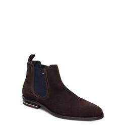 Tommy Hilfiger Signature Hilfiger Suede Chelsea Shoes Chelsea Boots Braun TOMMY HILFIGER Braun 46,41,40,43,42,45,44
