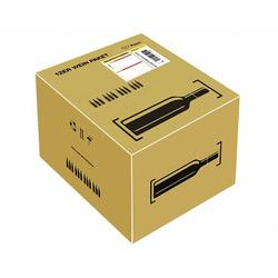 Post Prepaid Weinpaket für 12 Flaschen Wein Most, Säfte, Flaschenhöhe max 355mm