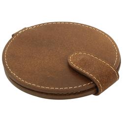 Gusti Leder Taschenspiegel Talia, Taschenspiegel Kosmetikspiegel Braun Leder braun