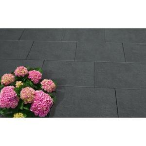 """Terrassenplatte """"No.1 Style"""", 40x40 cm, Basalt"""
