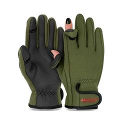 Arapaima Fishing Equipment Angelhandschuhe spin (Paar) Neopren Handschuhe Angeln grün M