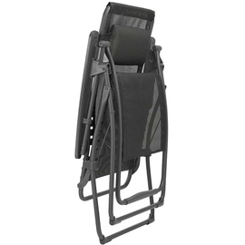 Lafuma Futura XL Batyline Iso Relaxsessel 76 x 83 x 125 cm noir klappbar