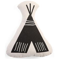 Kissen Canvas, Zelt, 38x30 cm schwarz/weiß
