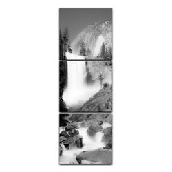 Bilderdepot24 Leinwandbild, Leinwandbild - Wasserfall III 40 cm x 120 cm