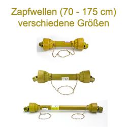 DEMA Gelenkwellen / Zapfwellen versch. Längen (70 - 175 cm), Zapfwelle: 80 - 110 cm / max. 16 PS