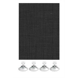 Klemmträger Flexibler Sonnenschutz schwarz 40 x 80, GARDINIA