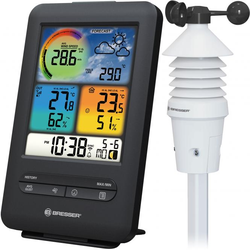 BRESSER WLAN Profi Windmesser 3-in-1 mit Farbdisplay