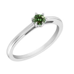 Zarter Verlobungsring mit grünem Diamanten Anyna