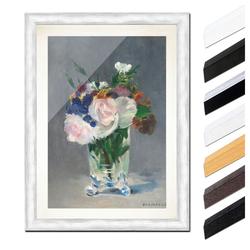 Bilderdepot24 Wandbild, Édouard Manet - Blumen in einer Kristallvase bunt 40 cm x 60 cm