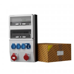 Stromverteiler eXT-S/FI 32A 16A 4x230V franz/belg System Stromzähler 0830