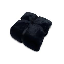 Wohndecke, jilda-tex, schwere, hochwertige und warme Fellimitat-Decke blau