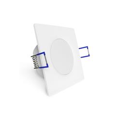 linovum LED Einbaustrahler WEEVO extra flacher LED Einbaustrahler eckig 4000K 5W 230V für Bad & Außen IP44