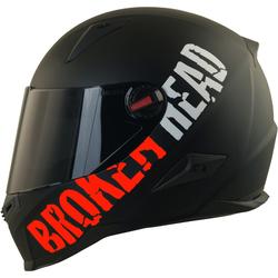 Broken Head BeProud Rot Set Motorradhelm incl. schwarzem Visier