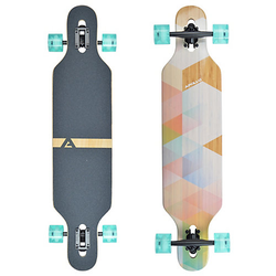 Twin Tip DT Longboard Nauro - Bamboo pastell
