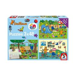 Schmidt Spiele Puzzle Puzzle Die Maus Ein Tag mit der Maus, 3x48 Teile, Puzzleteile