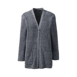 Shaker-Cardigan aus Leinen/Baumwolle - M - Blau
