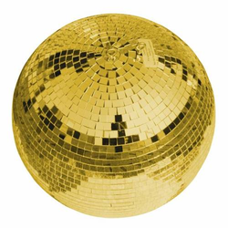 Eurolite 50120035 Discokugel mit goldener Oberfläche 30cm