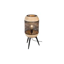 Nino Leuchten Tischleuchte Kari mit Bambus-Dekor