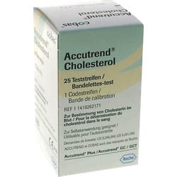 ACCUTREND Cholesterol Teststreifen 25 St