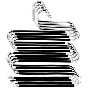 ZriEy Hosenbügel, 4er-Pack Hosenbügel Platzsparend S-Type-Kleidung Hosenbügel rutschfeste Closet Organizer für Schals Jeans Kleidung Hosen Handtücher