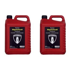Zwei 5 l Kanister Kettenbertl Premium Sägekettenöl mit Haftzusatz