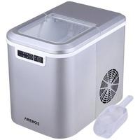 Arebos Eiswürfelmaschine 2.2L Silber,