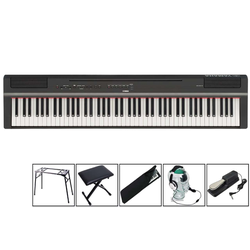 Yamaha P-125 B Black - transportables Piano - Mega Set