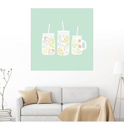 Posterlounge Wandbild, Fruchtlimonade 70 cm x 70 cm
