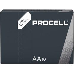Duracell Batterie Alkaline, Mignon, AA, LR06, 1.5V, Procell, Box (10-Pack) Batterie