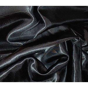 Seidenseidiger Satin-Stoff, einfarbig, luxuriös, Hochzeitsstoff, 150 cm breit, Meterware von Accessories Attic Limited Schwarz