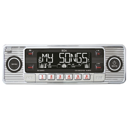 RETRO Radio CD, MP3, USB, SD, RDS, AUX, chrom
